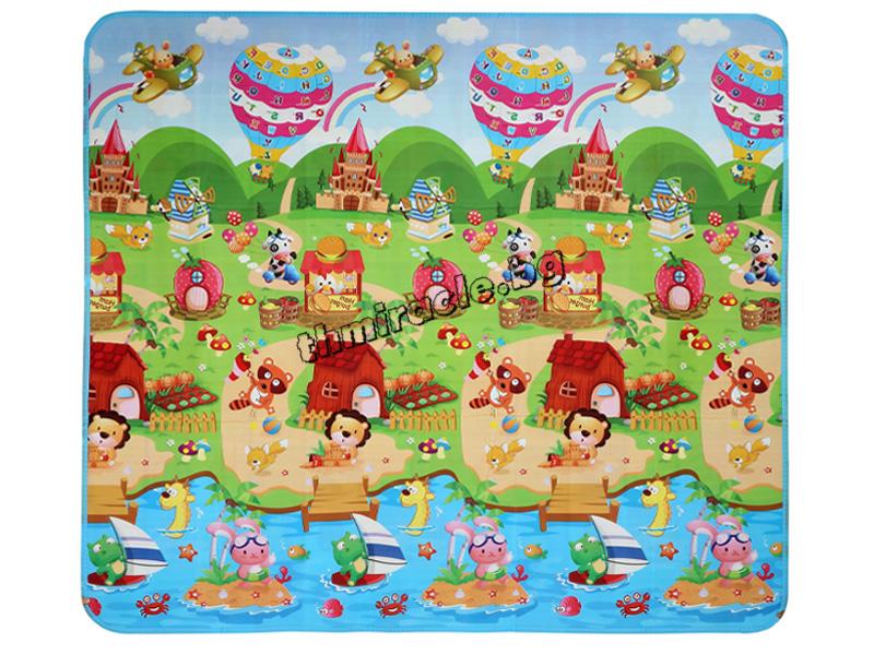 Двулицево килимче за игра Джунгла 150/180 см.
