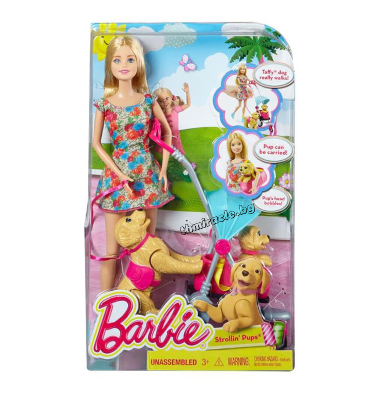 Barbie Кукла на разходка с кученца код 401-014