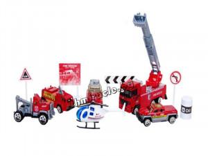 Комплект пожарни коли + аксесоари код 402-007