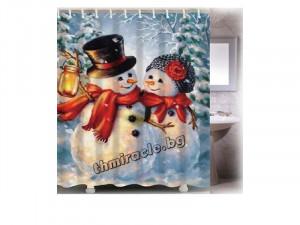 Коледна завеса за баня Зимна Прегръдка